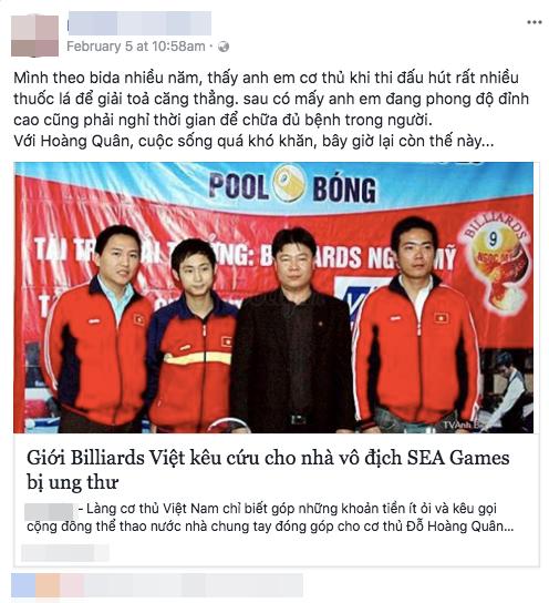 Nhà vô địch SEA Games một mình chiến đấu với ung thư: Đồng nghiệp và người hâm mộ kêu gọi giúp đỡ - Ảnh 4.