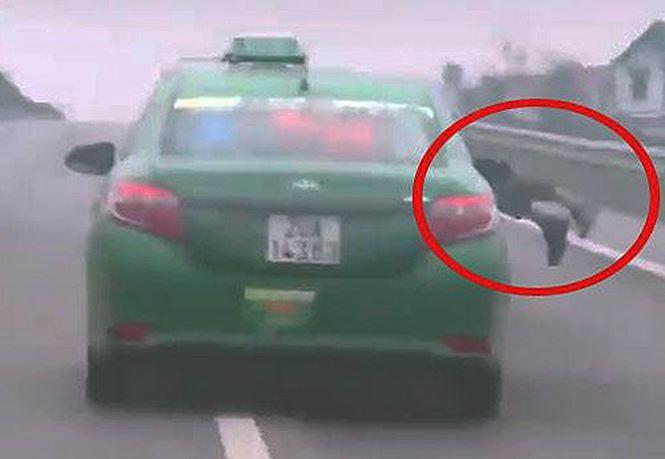 Bắt tài xế taxi hất cảnh sát lên nắp capo phóng 20km - Ảnh 2.