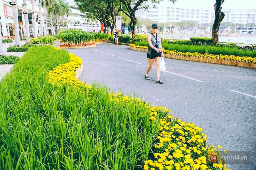 Nhiều thiếu nữ xúng xính váy áo, kéo đến đường hoa xuân ở phố nhà giàu Sài Gòn để check-in - Ảnh 14.