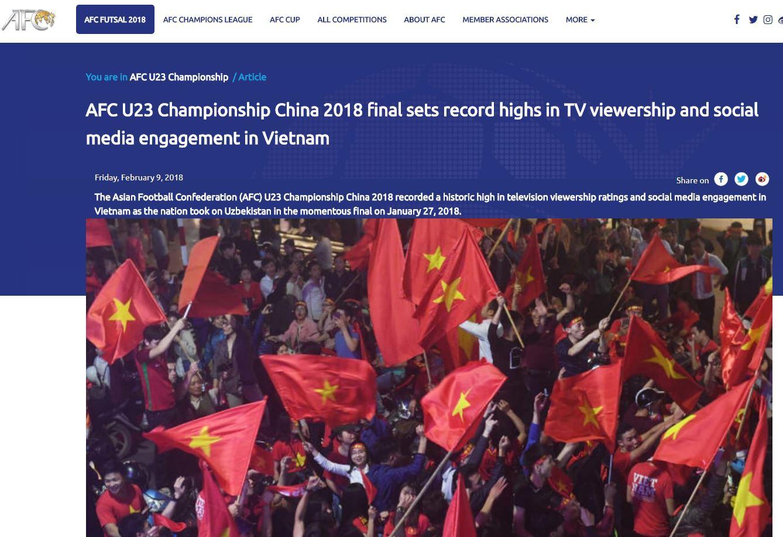 AFC sốc khi kỳ tích U23 Việt Nam phá mọi kỷ lục truyền hình - Ảnh 2.