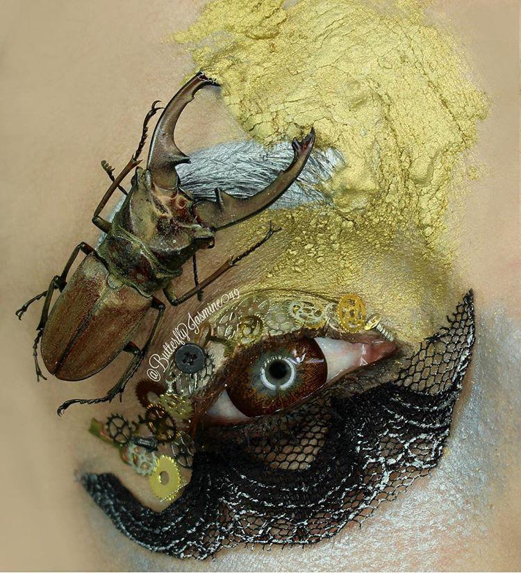 Nhặt nhạnh xác côn trùng, cô gái đã làm nên những tác phẩm make up đỉnh cao - Ảnh 15.