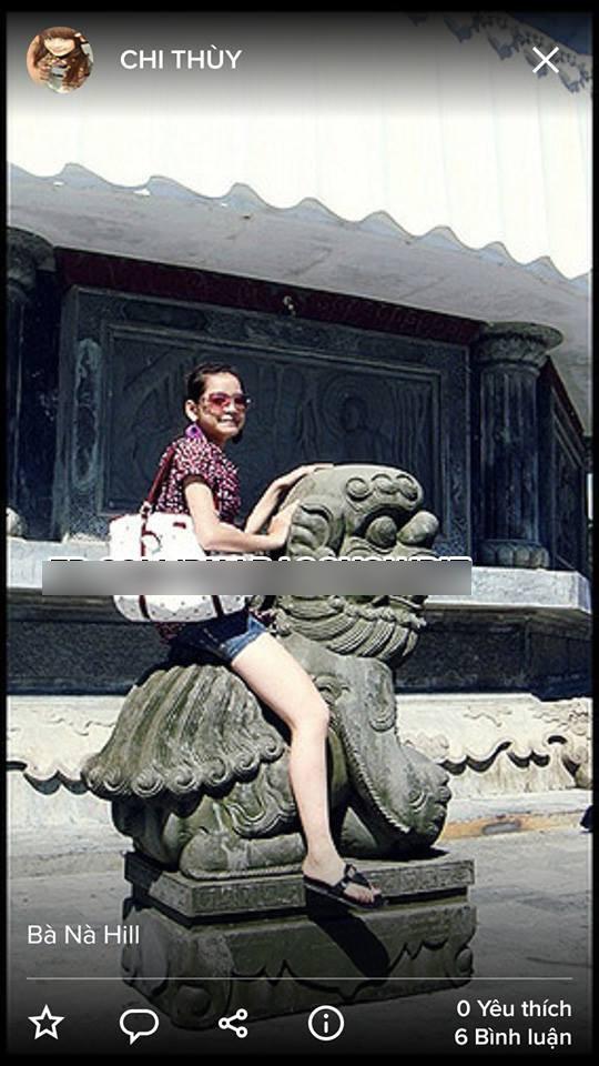 Loạt ảnh được cho là Chi Pu hôn và ngồi lên tượng Phật cách đây nhiều năm gây xôn xao mạng xã hội - Ảnh 1.