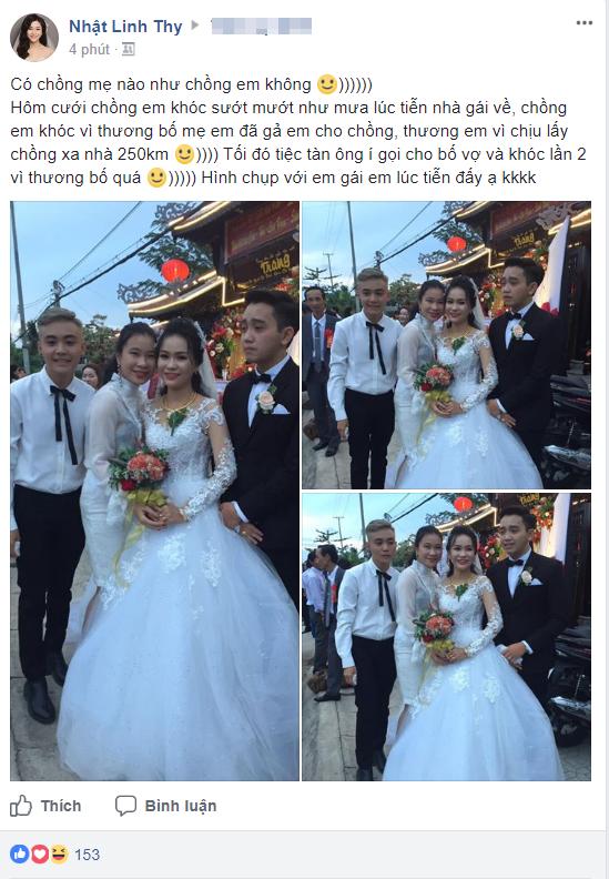 Hình ảnh chú rể khóc như mưa trong ngày cưới vì thương bố mẹ vợ khiến cộng đồng mạng xôn xao - Ảnh 1.