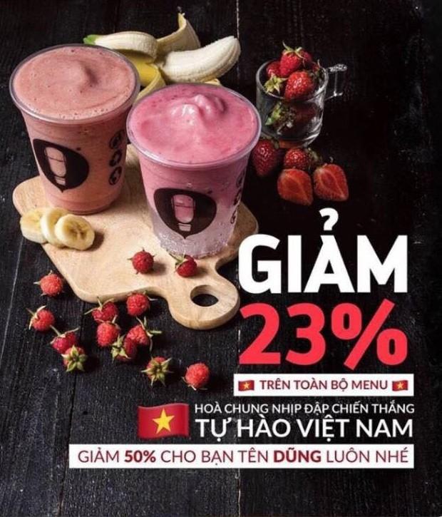 Sale 23%, sale cho khách trùng tên với cầu thủ - đây là cách hàng loạt shop, quán cafe ăn mừng chiến thắng của U23 - Ảnh 5.
