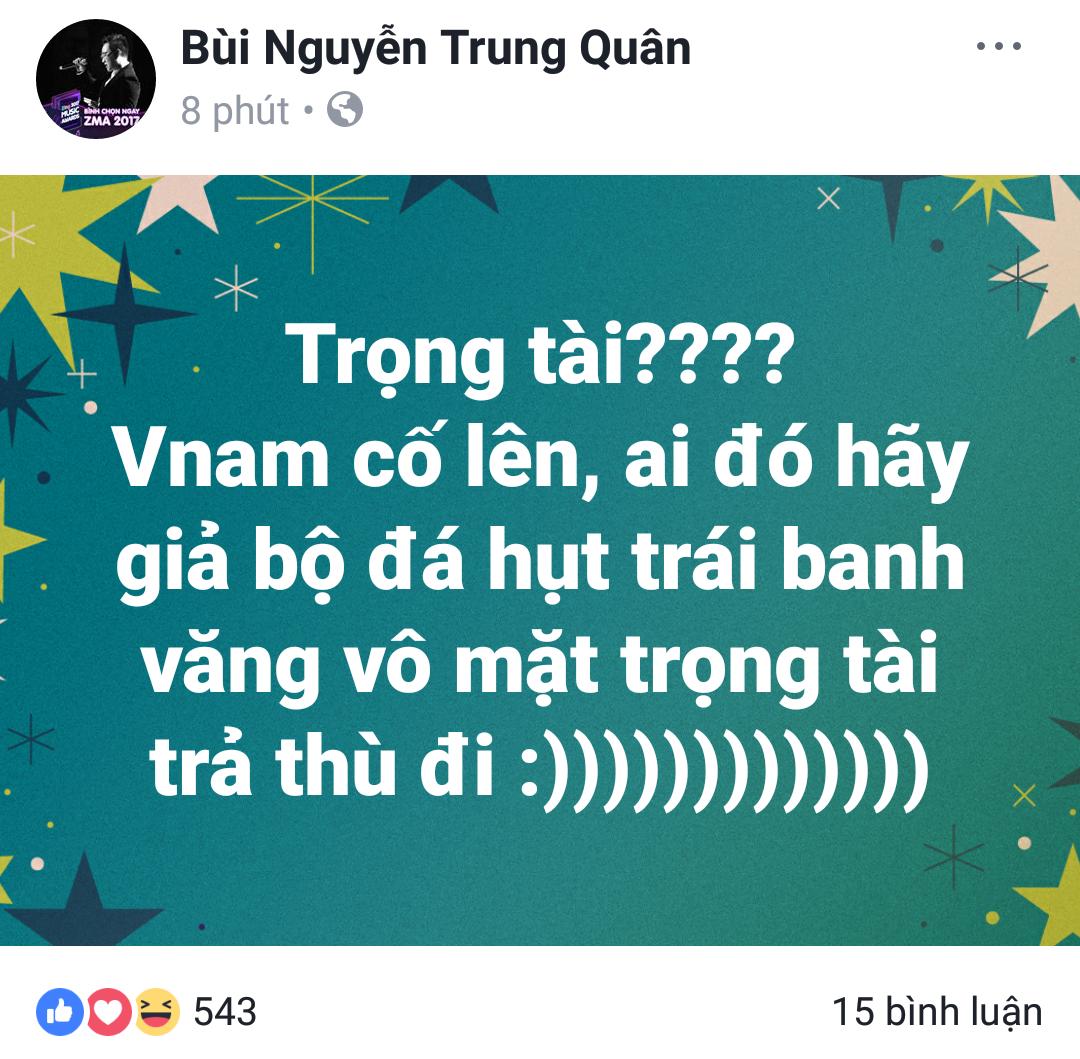 Bán kết U23 Việt Nam - U23 Qatar: Huyền My, Trang Pháp và loạt sao Việt bức xúc trước trọng tài người Singapore - Ảnh 5.