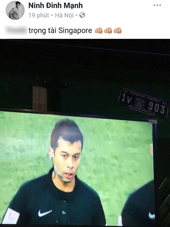 Bán kết U23 Việt Nam - U23 Qatar: Huyền My, Trang Pháp và loạt sao Việt bức xúc trước trọng tài người Singapore - Ảnh 9.