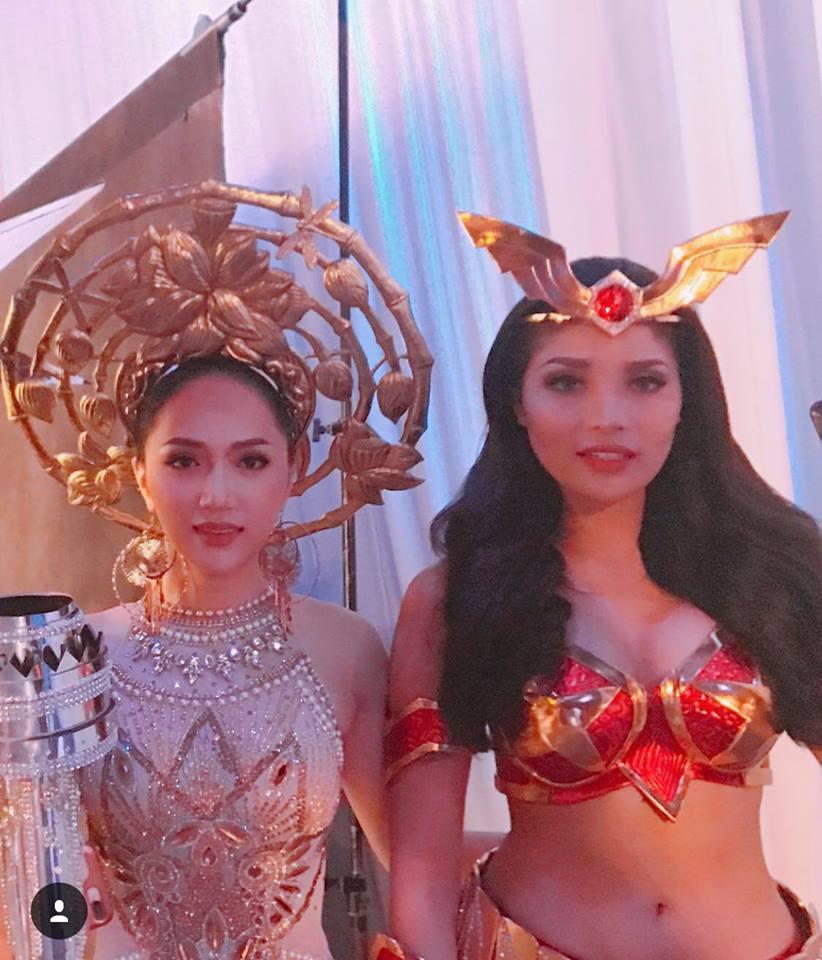 Diện trang phục dân tộc 55 kg, Hương Giang xuất hiện nổi bật ở vị trí trung tâm trong clip quảng bá của Hoa hậu Chuyển giới - Ảnh 4.