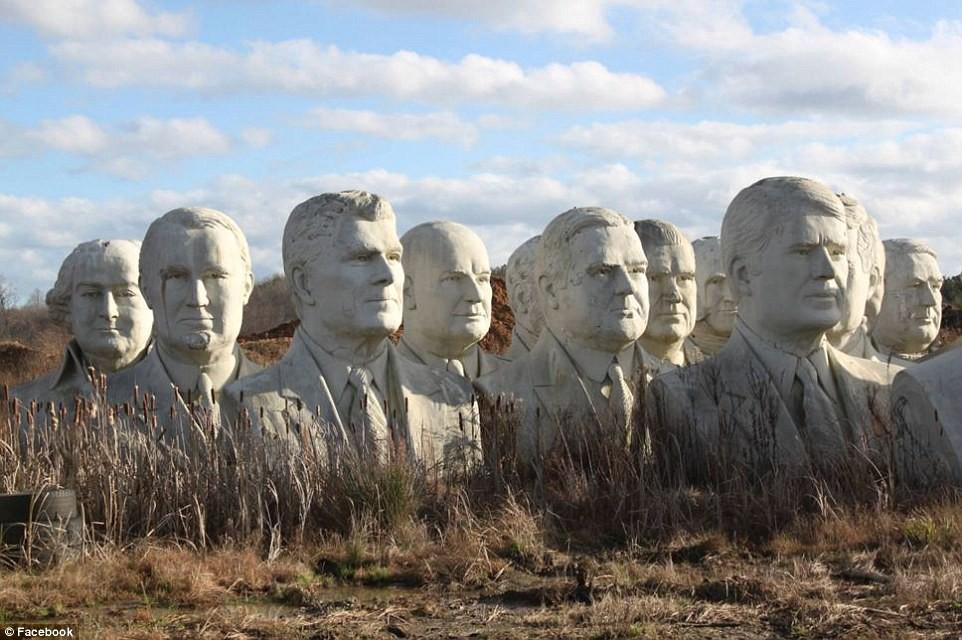 Công viên Tổng thống Mỹ với 43 bức tượng khổng lồ bị hư hại nặng nề, vẫn còn thiếu hai vị Tổng thống nữa mới hoàn thiện - Ảnh 7.