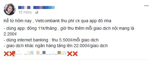 Không chỉ tăng phí dịch vụ SMS Banking lên 11.000 đồng, từ hôm nay Vietcombank còn thu phí chuyển tiền cùng hệ thống qua Mobile Banking - Ảnh 3.