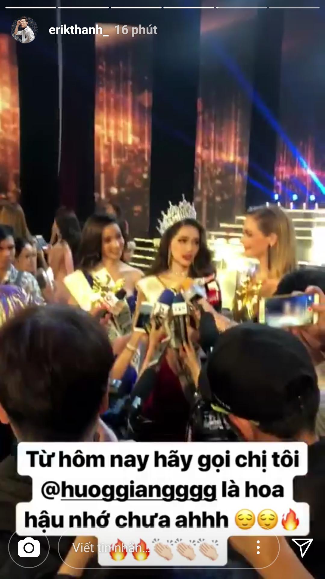 Hương Giang xuất sắc đăng quang Hoa hậu, dàn sao Việt đồng loạt gửi lời chúc mừng - Ảnh 4.