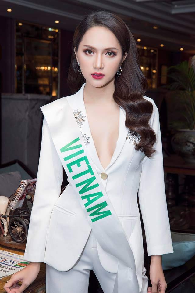 Chỉ dùng son đỏ và son cam mà Hương Giang vẫn cứ tỏa sáng ngời ngời tại Hoa hậu Chuyển giới Quốc tế 2018 - Ảnh 3.