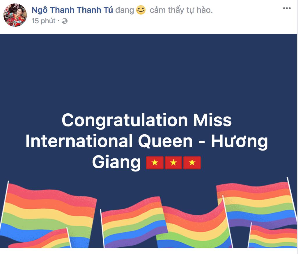Hương Giang xuất sắc đăng quang Hoa hậu, dàn sao Việt đồng loạt gửi lời chúc mừng - Ảnh 1.