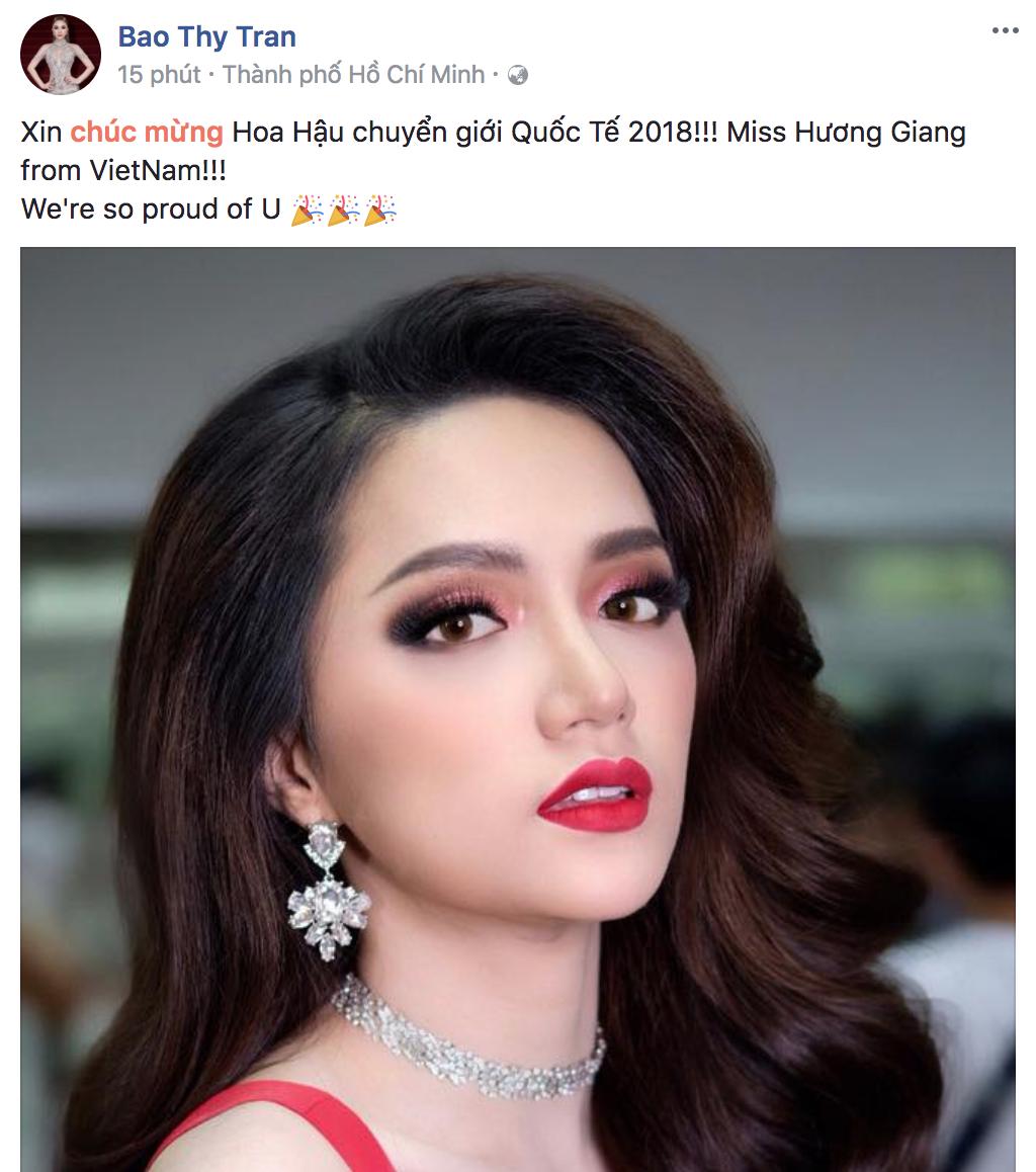 Hương Giang xuất sắc đăng quang Hoa hậu, dàn sao Việt đồng loạt gửi lời chúc mừng - Ảnh 5.
