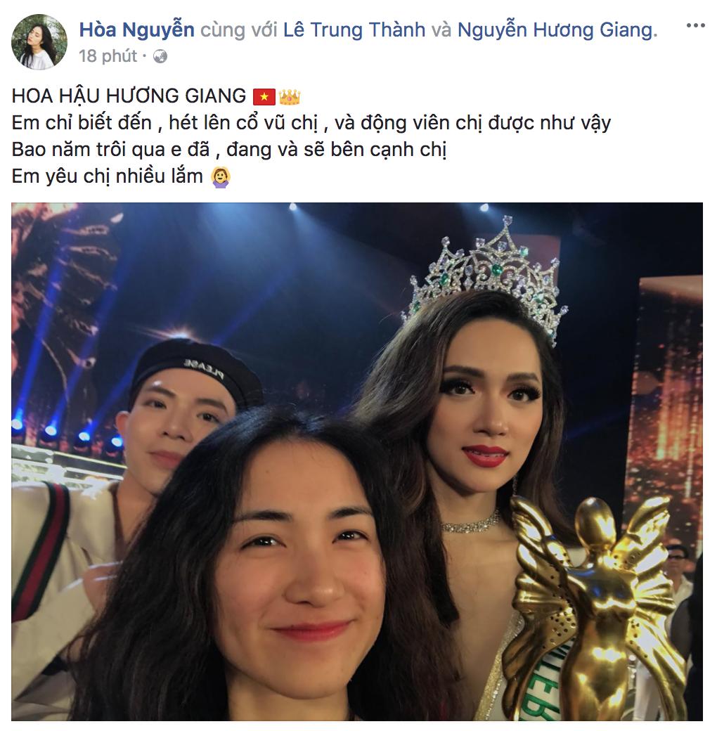 Hương Giang xuất sắc đăng quang Hoa hậu, dàn sao Việt đồng loạt gửi lời chúc mừng - Ảnh 7.