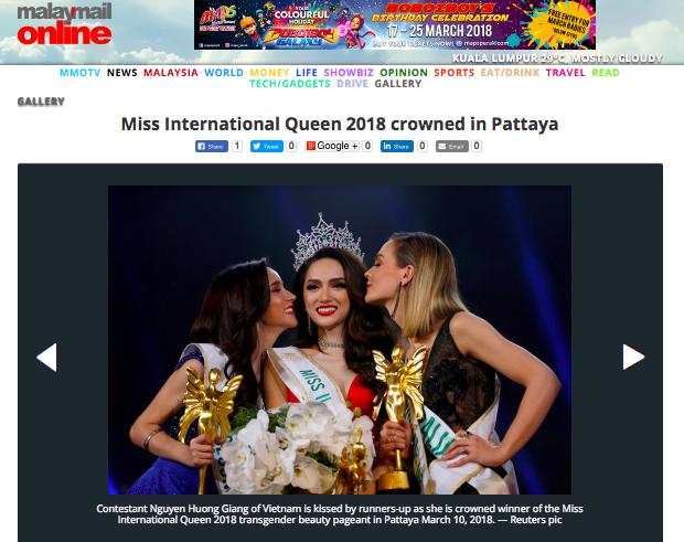 DailyMail, AFP cùng loạt tờ báo lớn nhất thế giới đưa tin Hương Giang đăng quang Hoa hậu Chuyển giới Quốc tế 2018 - Ảnh 5.
