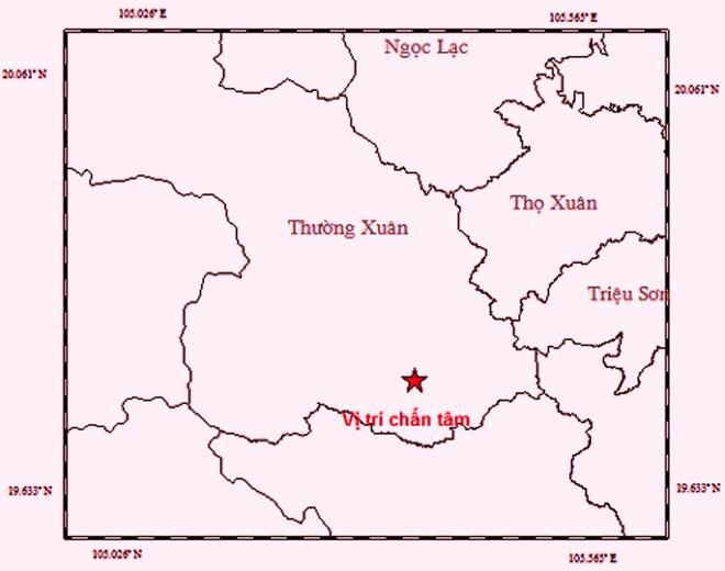 Xảy ra động đất 3 độ Richter tại huyện miền núi tỉnh Thanh Hóa - Ảnh 1.