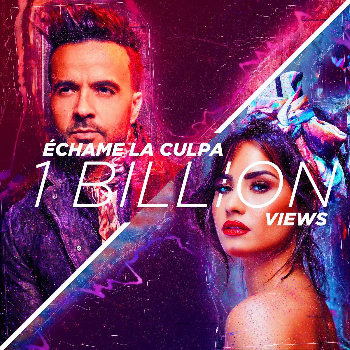 Luis Fonsi hợp tác cùng Demi Lovato  tung MV Échame La Culpa cán mốc 1 tỷ view trong vòng 4 tháng