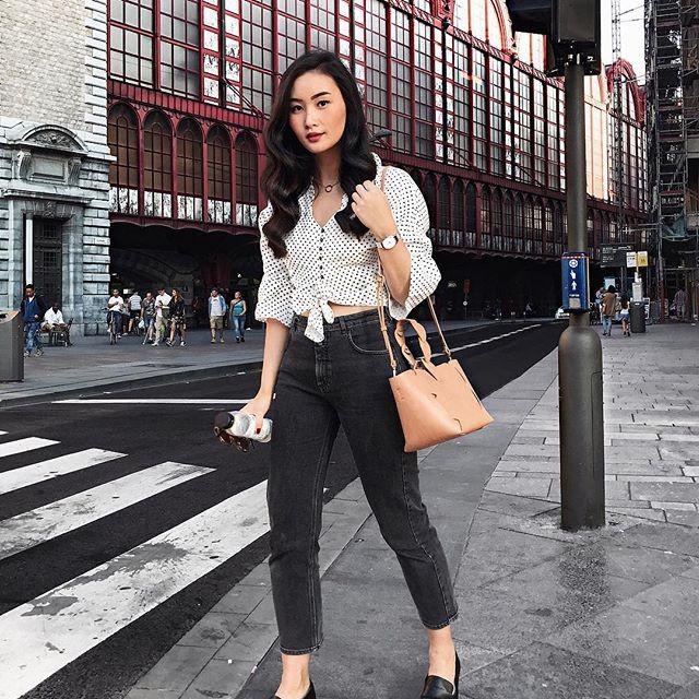 Tranh thủ trời mát mẻ, các quý cô Châu Á đồng loạt diện blazer xuống phố trong street style tuần này - Ảnh 13.