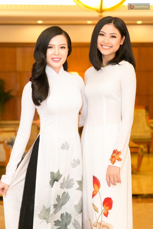 Khoảnh khắc hiếm hoi: 6 Hoa hậu, Á hậu hai mùa Hoa hậu liên tiếp diện áo dài đọ sắc - Ảnh 9.