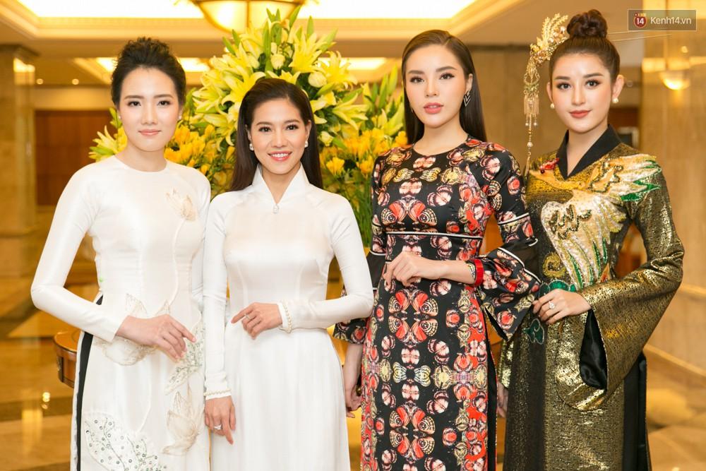 Khoảnh khắc hiếm hoi: 6 Hoa hậu, Á hậu hai mùa Hoa hậu liên tiếp diện áo dài đọ sắc - Ảnh 3.