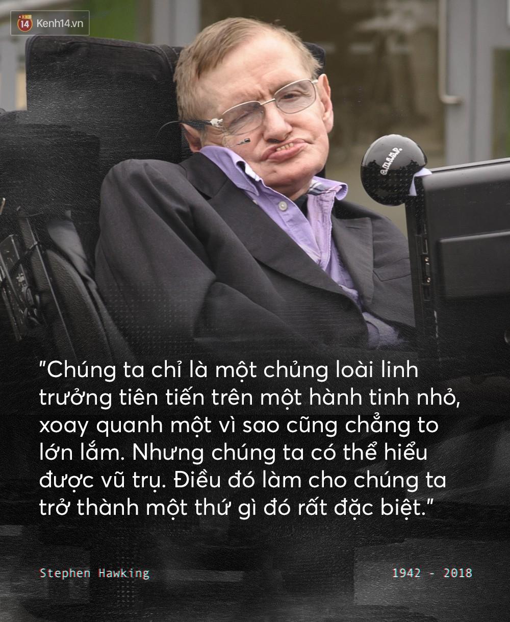 Những câu nói để đời của Stephen Hawking: Từ suy nghĩ giản đơn về cuộc đời cho tới triết lý mang tầm vũ trụ - Ảnh 5.