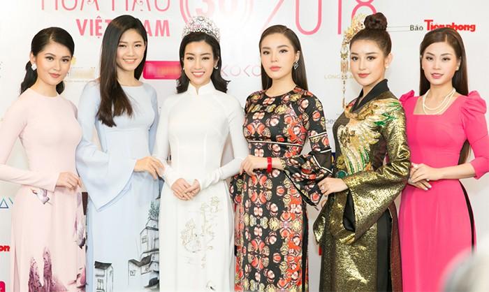 Khoảnh khắc hiếm hoi: 6 Hoa hậu, Á hậu hai mùa Hoa hậu liên tiếp diện áo dài đọ sắc - Ảnh 1.