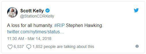 Giới khoa học cùng rất nhiều người nổi tiếng bày tỏ nỗi niềm tiếc nuối trước sự ra đi của nhà vật lý đại tài Stephen Hawking - Ảnh 2.