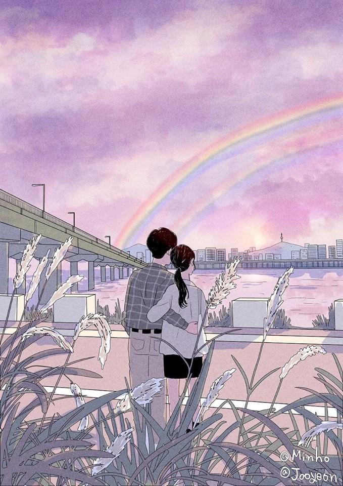 """Bộ tranh Hàn Quốc khiến ai cũng muốn có một người để """"yêu nhau ..."""