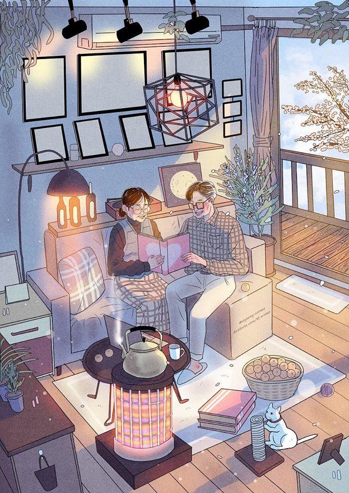 """... Bộ tranh Hàn Quốc khiến ai cũng muốn có một người để """"yêu nhau"""