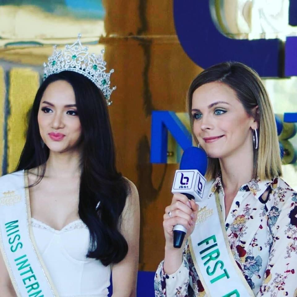 Sau đăng quang, Á hậu 1 của Hoa hậu Chuyển giới Quốc tế 2018 3 lần diện lại 1 chiếc váy dạ hội cho các hoạt động - Ảnh 2.