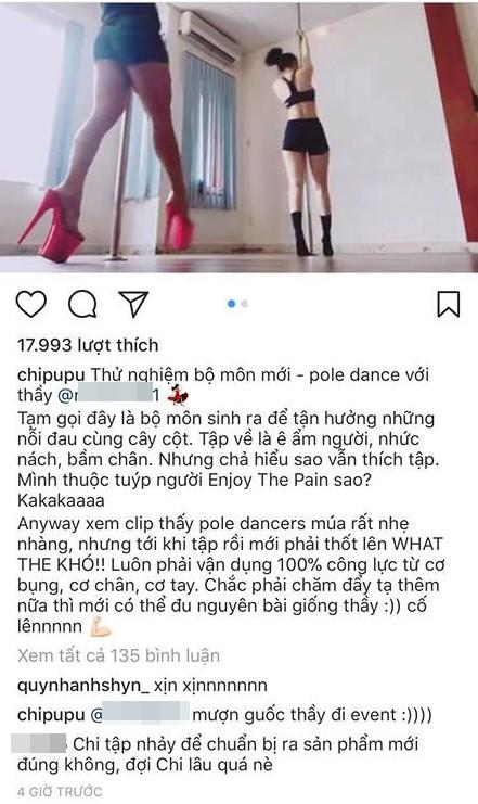 Fan xôn xao Chi Pu đổ mồ hôi học múa cột để chuẩn bị ra mắt sản phẩm âm nhạc mới? - Ảnh 3.