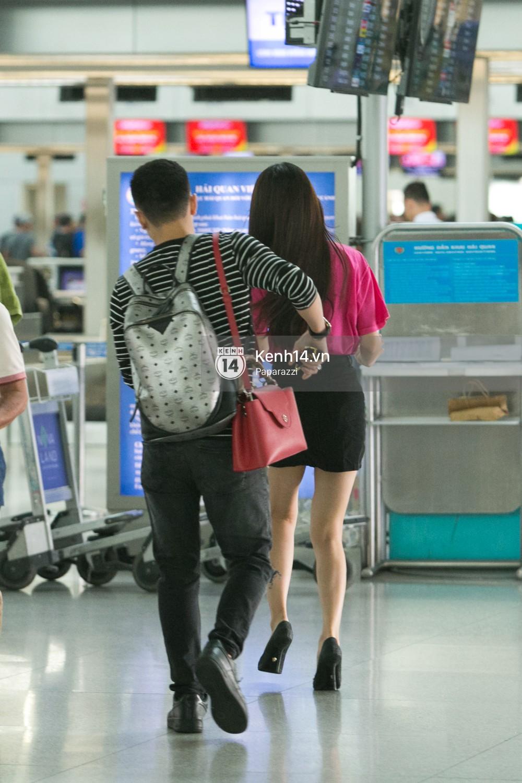 Hương Giang vội vã ở sân bay Tân Sơn Nhất, suýt muộn chuyến bay quay lại Thái Lan vì kẹt xe - Ảnh 7.