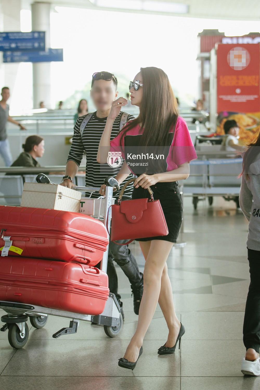 Hương Giang vội vã ở sân bay Tân Sơn Nhất, suýt muộn chuyến bay quay lại Thái Lan vì kẹt xe - Ảnh 5.