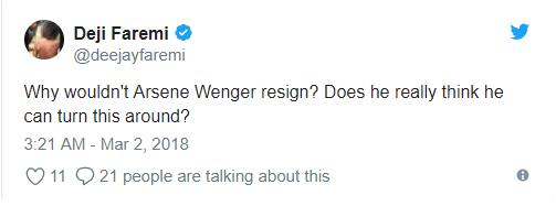 Fan Arsenal đòi Wenger từ chức ngay lập tức sau 2 trận thua muối mặt trước Man City - Ảnh 11.