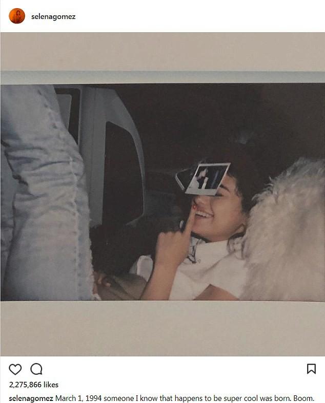 Selena Gomez chúc mừng sinh nhật một người bí ẩn, nhưng ai cũng biết đó là Justin Bieber! - Ảnh 1.