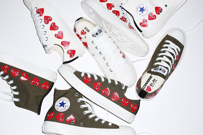 Comme des Garçons Play x Converse nhá hàng mẫu giày mới, dự kiến ra mắt vào cuối tháng này - Ảnh 1.