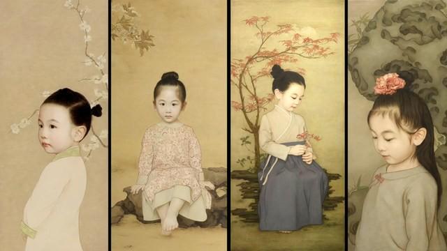 Ông bố biến con gái thành tiểu tiên nữ cổ trang trong tranh khiến nhiều người nể phục - Ảnh 1.