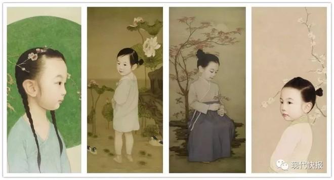 Ông bố biến con gái thành tiểu tiên nữ cổ trang trong tranh khiến nhiều người nể phục - Ảnh 2.