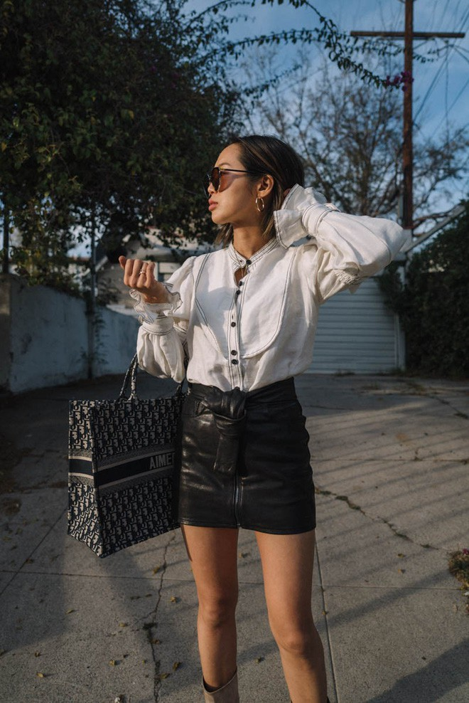 Diện quần âu và sơmi cách điệu đẹp như các quý cô châu Á trong street style đầu tháng 3 - Ảnh 13.