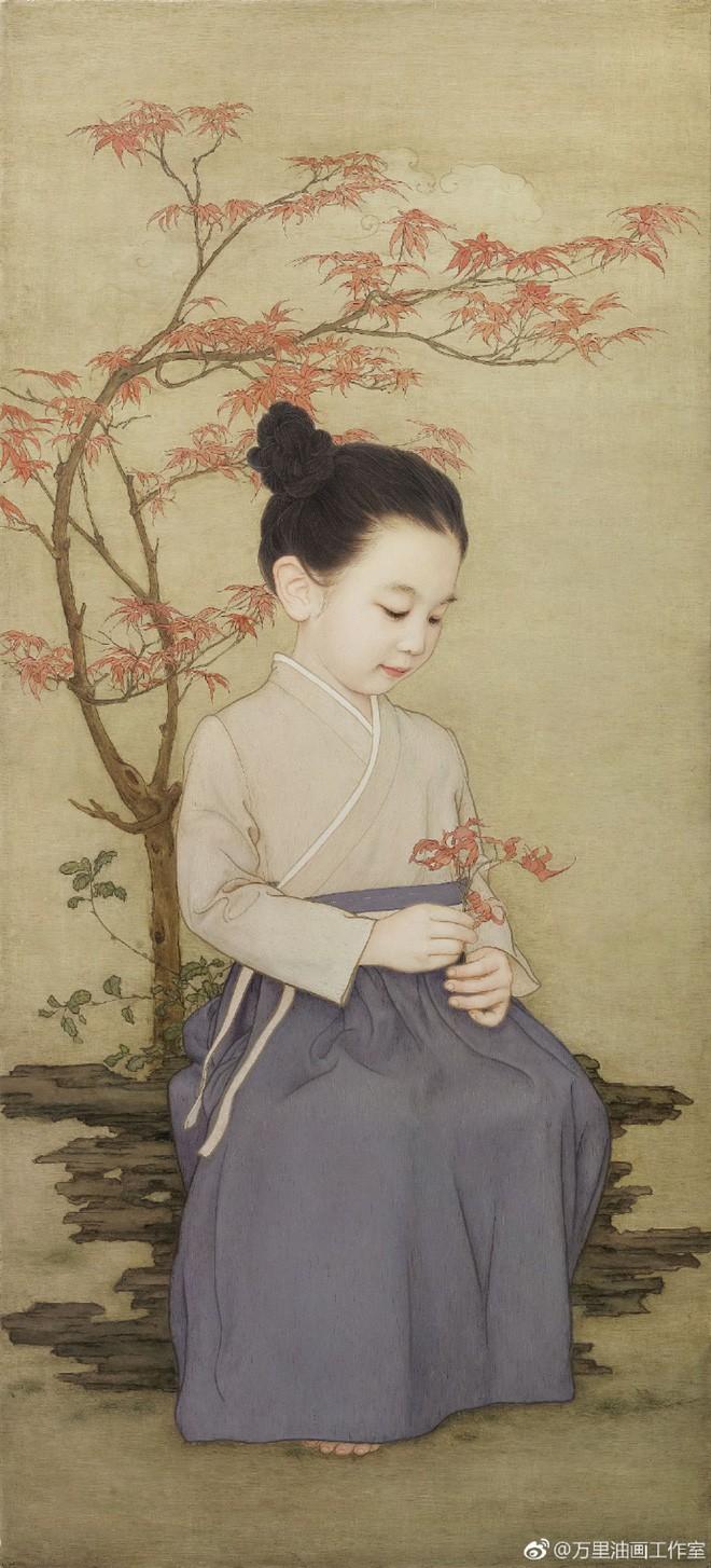 Ông bố biến con gái thành tiểu tiên nữ cổ trang trong tranh khiến nhiều người nể phục - Ảnh 18.