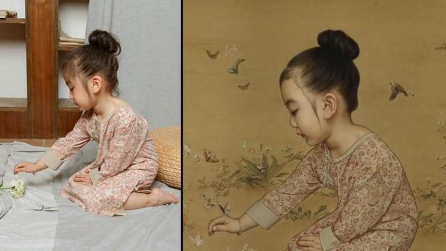 Ông bố biến con gái thành tiểu tiên nữ cổ trang trong tranh khiến nhiều người nể phục - Ảnh 5.