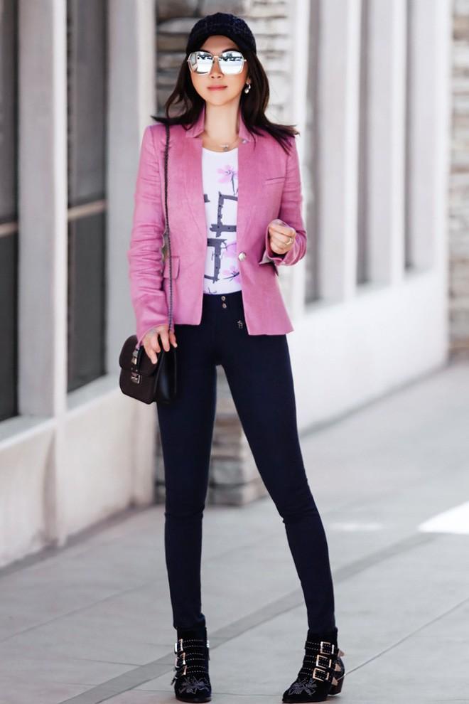 Diện quần âu và sơmi cách điệu đẹp như các quý cô châu Á trong street style đầu tháng 3 - Ảnh 10.