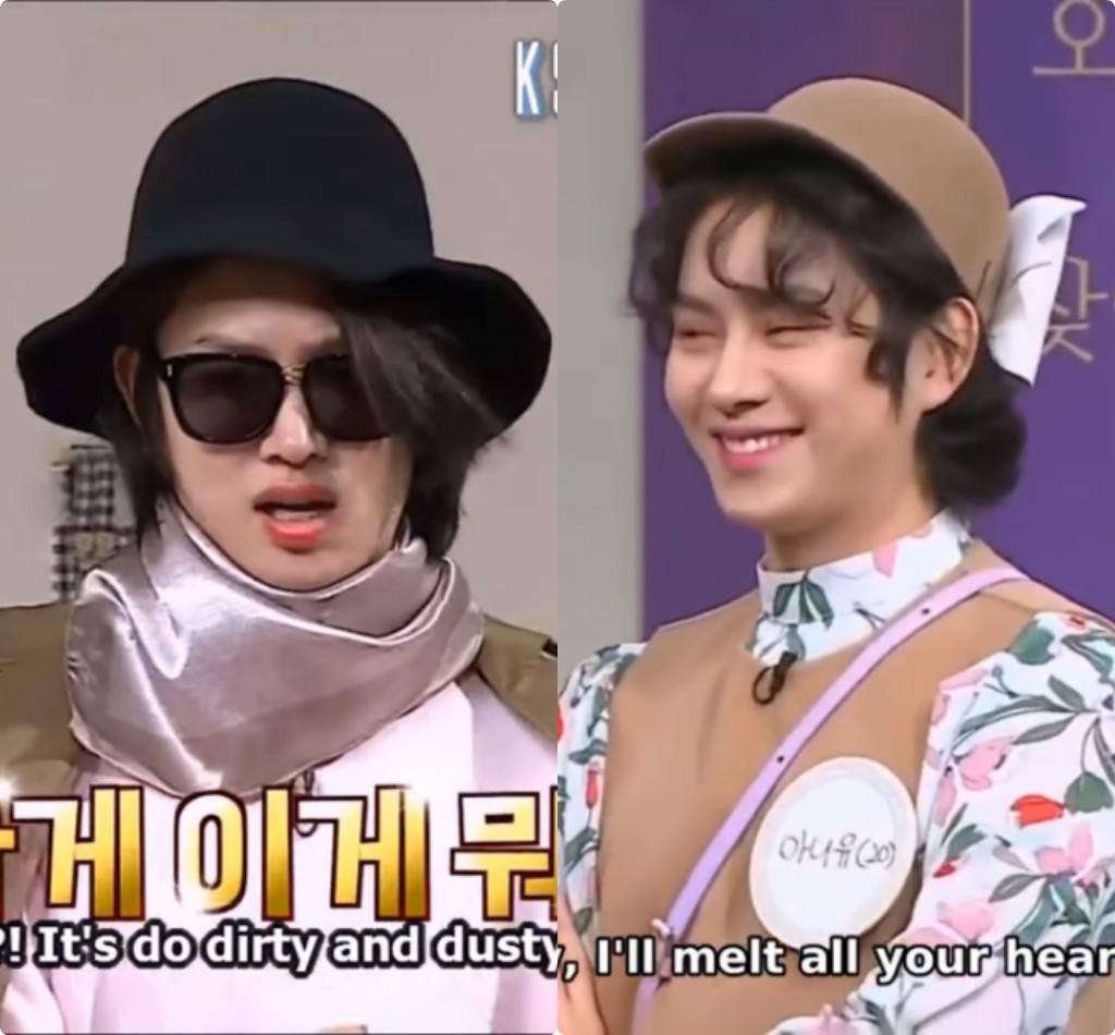 Choáng ngợp những màn giả gái thần sầu của siêu sao vũ trụ Kim Heechul trên các show truyền hình - Ảnh 4.