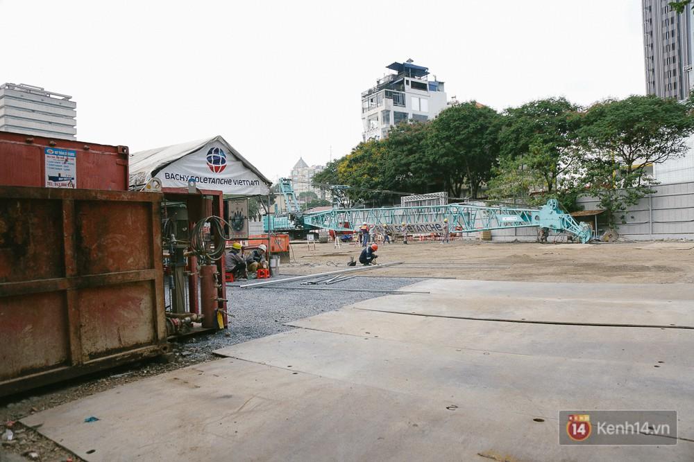Bên trong khu đất từng có 60 người đã thiệt mạng, hiện đang đào móng để xây toà nhà cao thứ 3 ở Sài Gòn.