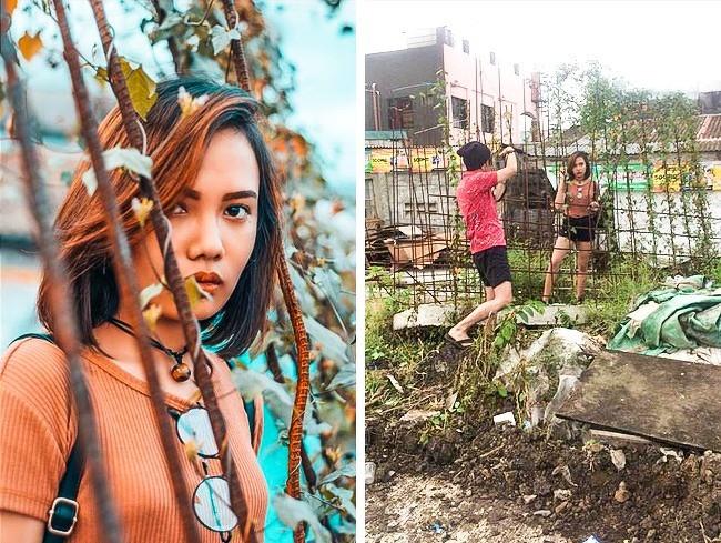 Chụp ảnh sống ảo kiểu bình dân: Khi sắt vụn, bụi rậm và lá khô cũng thành siêu phẩm - Ảnh 2.