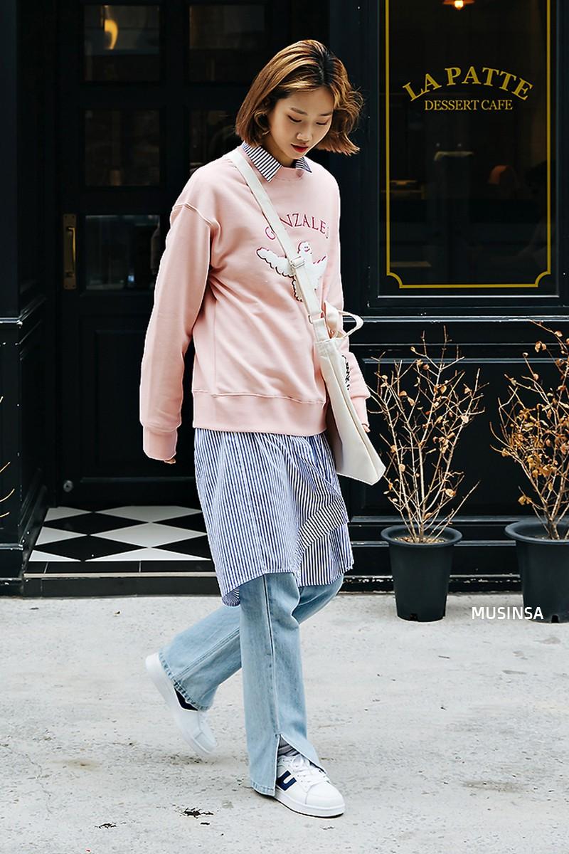 Street style đơn giản, năng động của giới trẻ Hàn không những không nhàm chán mà còn khiến bạn thốt lên Đẹp quá đáng! - Ảnh 4.