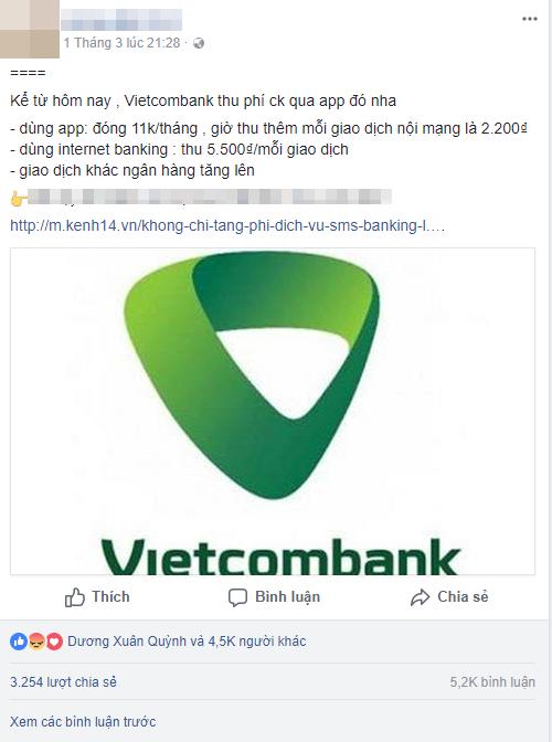 """Nhiều chủ tài khoản Vietcombank phản ứng sau biểu phí mới: Sẽ mở thêm vài tài khoản ngân hàng khác để không bị """"phụ thuộc""""! - Ảnh 5."""