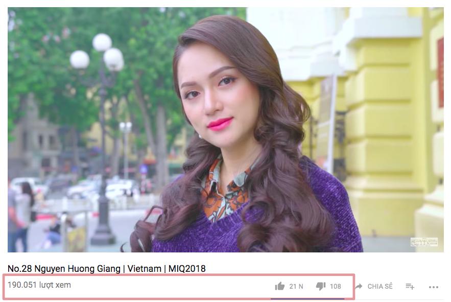 Chỉ vài giờ, người hâm mộ Việt đã giúp Hương Giang bứt phá vươn lên tạm dẫn giải Video giới thiệu được yêu thích nhất - Ảnh 2.
