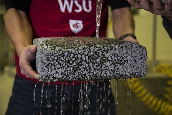 Tìm ra cách cải thiện khả năng thoát nước của bê tông trong mùa lũ bằng sợi carbon tái chế vô cùng hiệu quả - Ảnh 2.