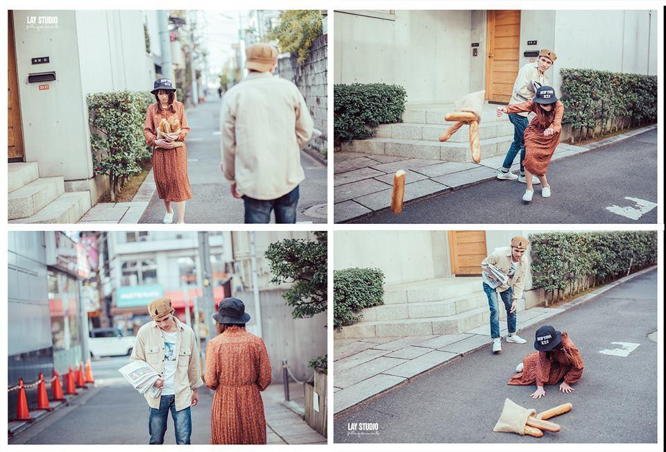 Giữa Tokyo hào nhoáng, có một cặp đôi Việt chụp ảnh cưới với concept bán báo - bán bánh mì - Ảnh 3.